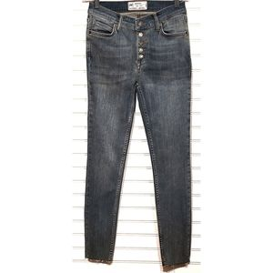 Free People Distressed Faded Denim Womens Size  24